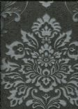 Scintillio Vintage Palazzo Wallpaper Black/Silver 290400 By Arthouse For Options